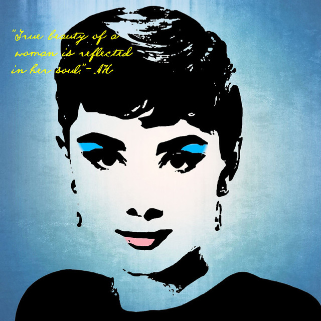 Pop Art Actress Icons Audrey True Beauty Graphic Art On Wrapped Canvas Contemporary Prints And Posters By Penny Lane Publishing Inc