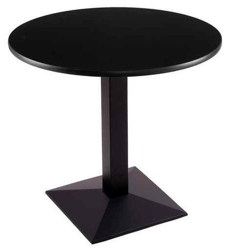 Pedestal Table In Black Dining Tables By ShopLadder