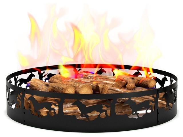 Wild Life Running Horse Campfire Fire Ring 36