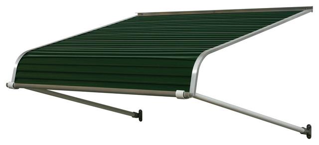 """1100 Series Aluminum Door Canopy 66""""x30"""" Projection, Evergreen."""