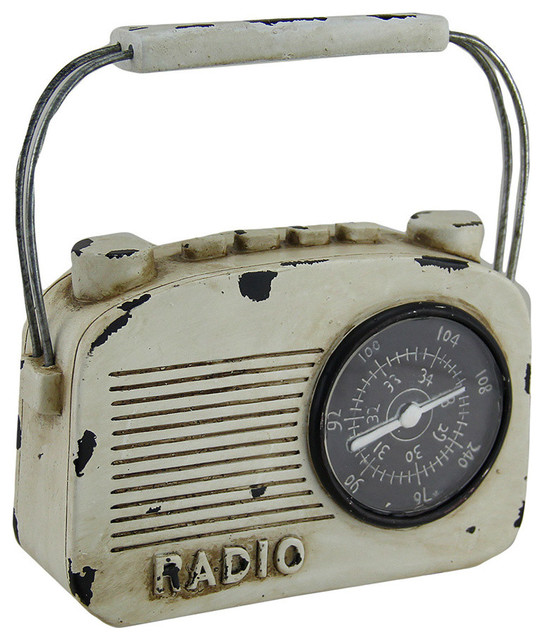Retro Design Bank.Retro Radio Vintage Finish Decorative Coin Bank Eclectic Piggy