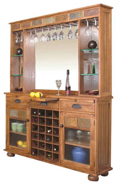 Sedona Server and Back Bar - Traditional - Wine And Bar Cabinets ...