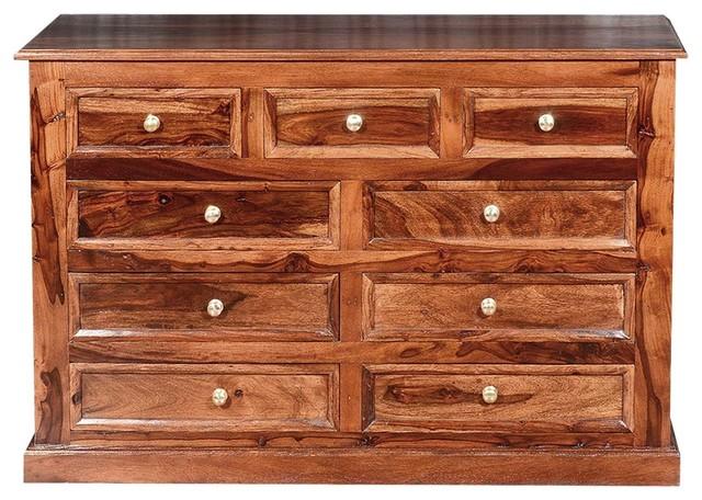 Shaker Clic Solid Wood 9 Drawer Dresser