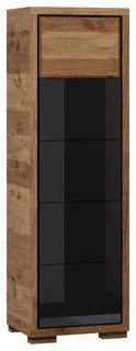 Albero 1 Door Display Cabinet, Black