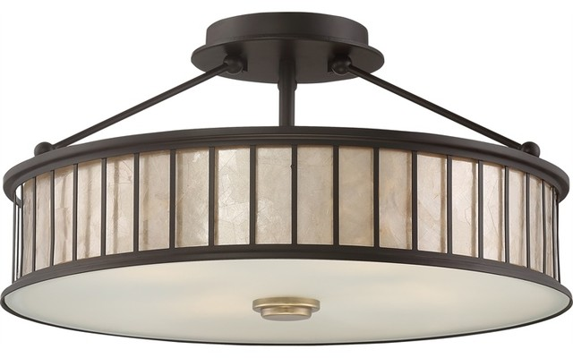 Quoizel Belfair Semi-Flush Mount, Western Bronze.