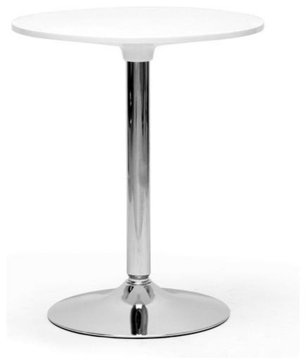 Baxton Studio Ji Small White Modern Bistro Table - Contemporary ...