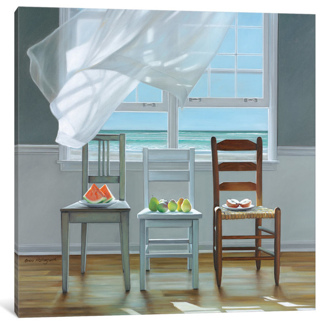 Karen Hollingsworth Contemplation Coastal Interior Window Print Poster 18x18