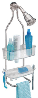 InterDesign Plastic and Stainless Steel Shower Caddy