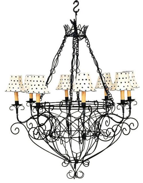 Black iron french basket chandelier romantic country cottage wire 8 black iron french basket chandelier romantic country cottage wire 8 light aloadofball Choice Image