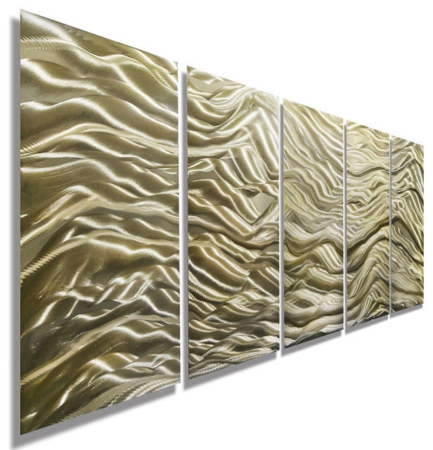 Gold Contemporary Abstract Metal Wall Art, Modern Metal Wall Sculpture, Painting.