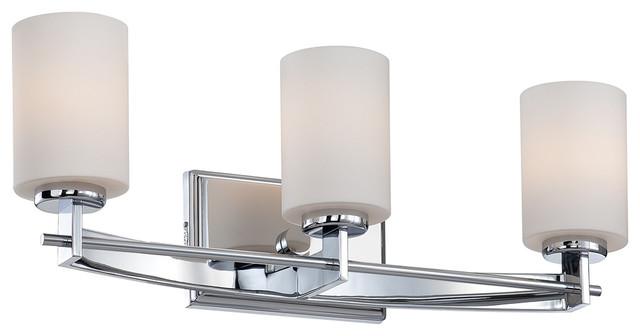 3 Light Above Mirror Polished Chrome Traditional Bathroom Wall Lights By Washington Lighting And Interiors