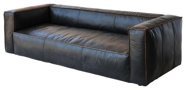 Soho Reverse-Stitch Leather Sofa contemporary-sofas