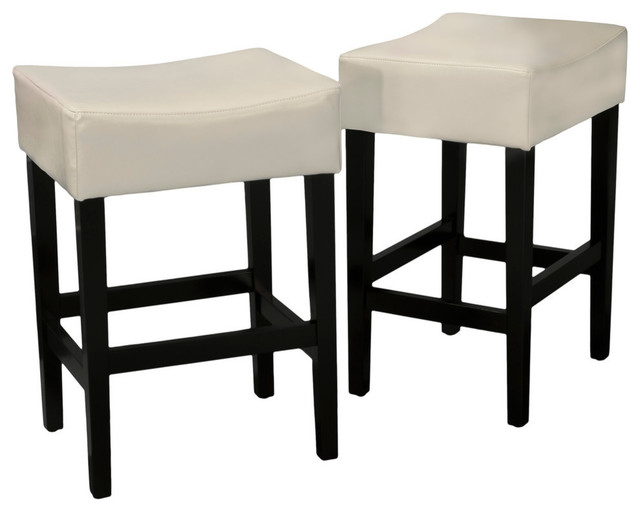 Gdf Studio Duff Backless Leather Counter Stools Set Of 2