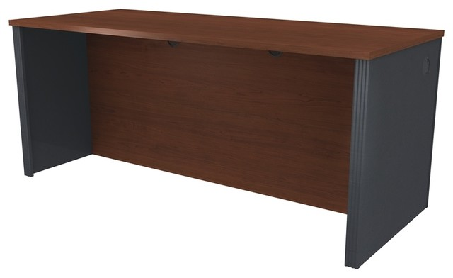 Bestar Prestige Executive Desk Bordeaux And Graphite
