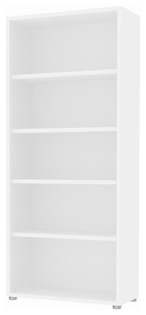 Structure 5 Shelf Wide Bookcase.