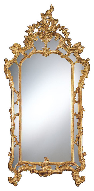 Baroque Gold Leafed Mirror Victorian, Gold Baroque Mirror Full Length