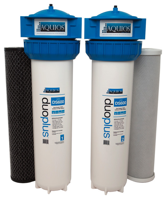 Aquios Duoplus Ds600 Salt Free Water Softener Filter System Modern Filtration Systems By Houzz