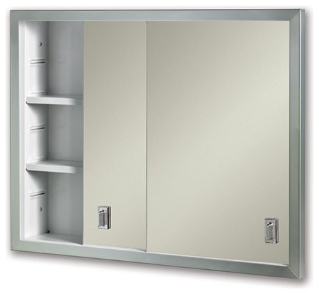 "Contempora 24 5/8""x19 3/16"" Recess Mount Stainless Medicine Cabinet."