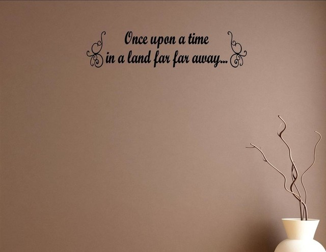 Once Upon A Time In A Land Far Far Away Wall Decor Stickers