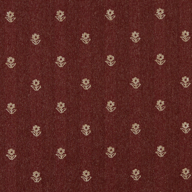 Rustic Red And Beige Flowers Country Tweed Upholstery Fabric By The Yard Palazzo Fabrics