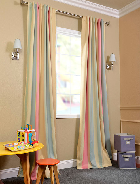 Curtains Ideas blackout panels for curtains : Ambrosia Stripe Blackout Curtain