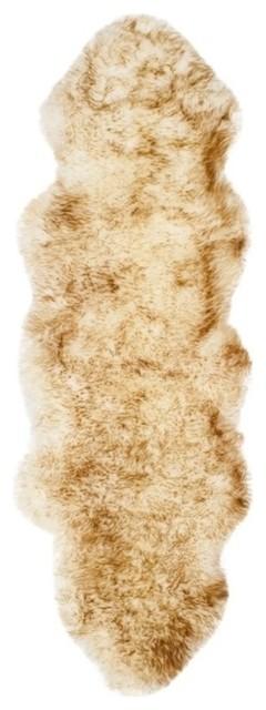 Safavieh Sheepskin Shag 2'x6' Runner Natural Sheep Skin Rug