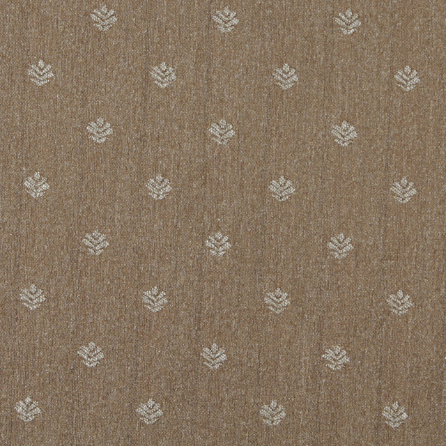 Light Brown And Beige Leaves Country Style Upholstery Fabric By The
