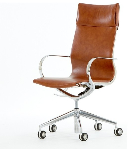 Mercury High Back Leather Office Chair Modern Office Chairs By BlueSunTree