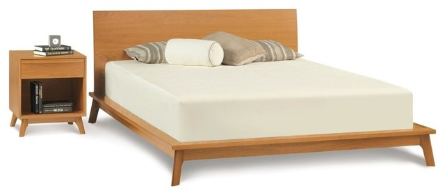 Fancy Midcentury Panel Beds by Copeland Furniture