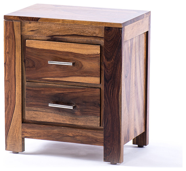 Romy Night Table, Light Brown Rustic Nightstands And Bedside Tables