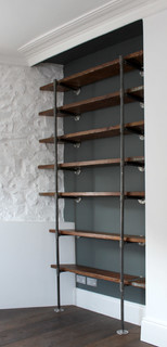 Sebastian Reclaimed Scaffolding Boards and Steel Pipe Industrial Chic Shelving