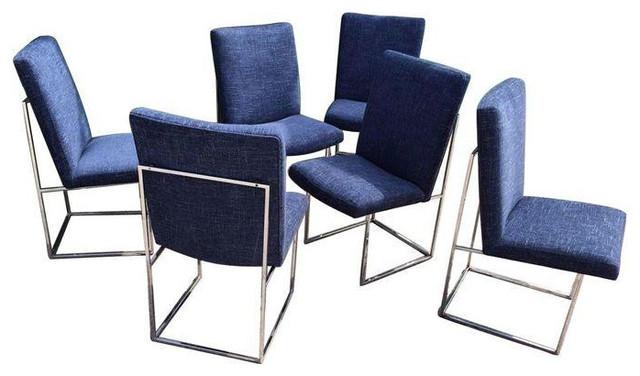 milo baughman furniture. milo baughman dining chairs set of 6 contemporarydiningchairs furniture