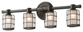 Troy Lighting B3844 Mercantile 4 Light Bathroom Vanity ...