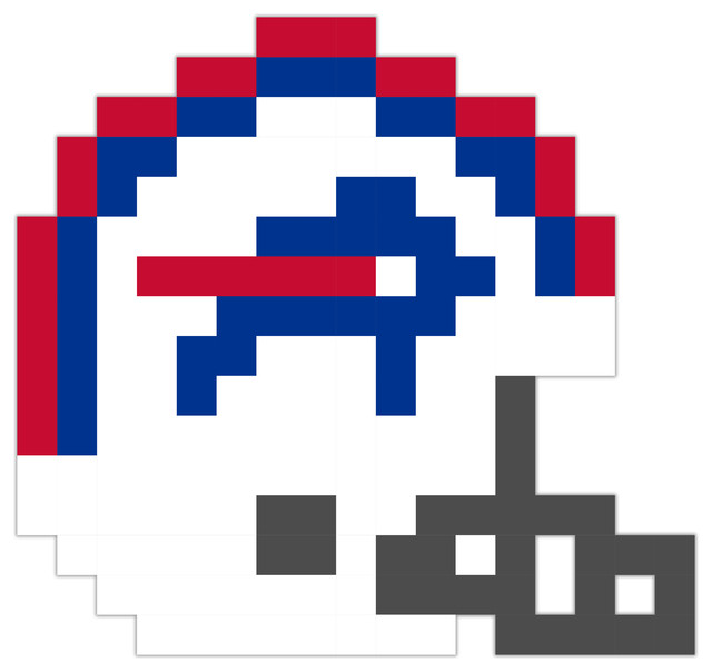 Buffalo Bills Football Helmet Pixel Art Vinyl 24 Quot X24