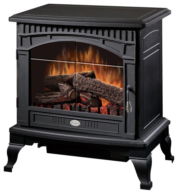 Dimplex Ds5629mb Traditional Electric Stove With Thermostat, Matte Black, 1500w.