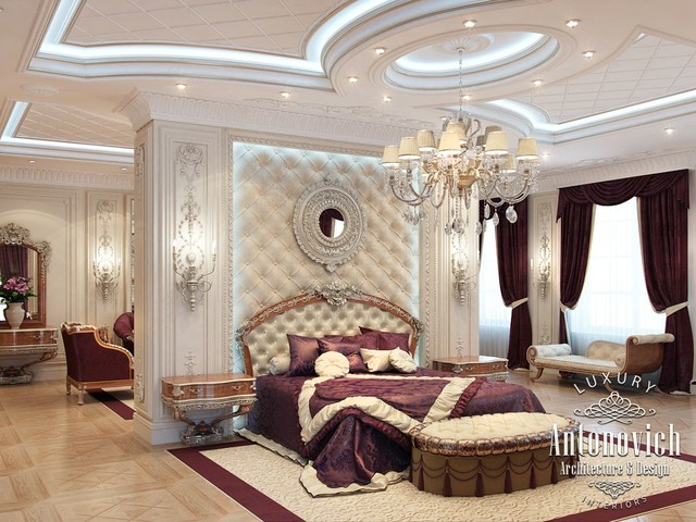 Master bedroom from luxury antonovich design