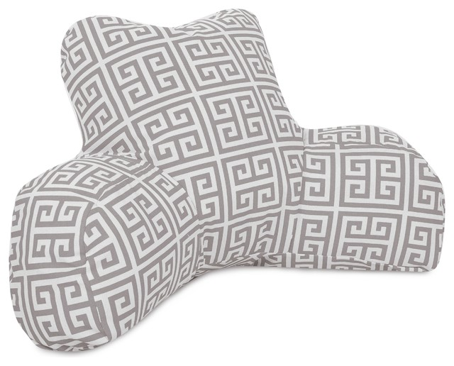 Floor Reading Pillows : Gray Towers Reading Pillow - Asian - Floor Pillows And Poufs - by VirVentures