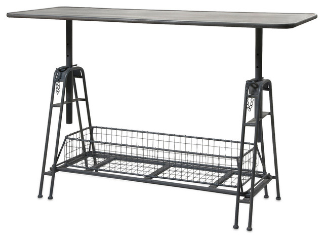 Henry Adjustable Metal Work Table Industrial Desks And Hutches