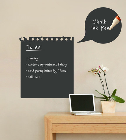 Chalkboard Memo Wall Decal Contemporary Wall Decals Part 96