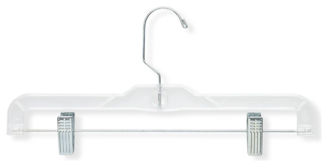 Crystal Patterned Bottom Hangers, Clear, 12 Pack.