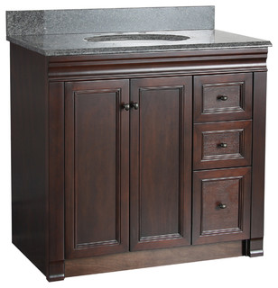left side sink bathroom vanity 30 quot tobacco bath vanity with left side drawers 23672