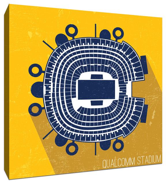 Qualcomm Stadium NFL Seat Map Canvas 9
