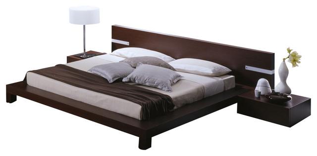 win platform bed with headboard lights queen modern platform beds - Low Rise Bed Frame