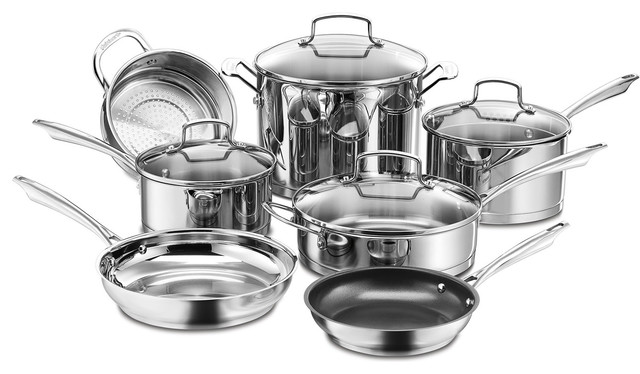 Professional Series Stainless Steel 11-Piece Cookware Set.