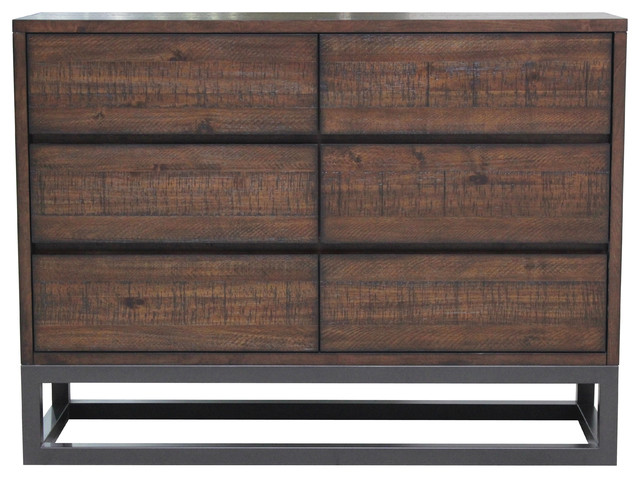 Modern Industrial Drawer Dresser.