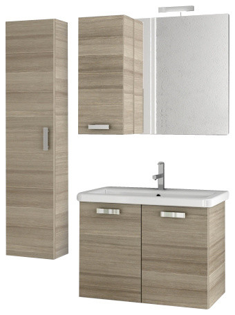 30 inch larch canapa bathroom vanity set - modern - bathroom