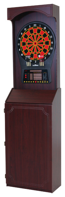 Arcade Style Cabinet With Cricket Pro 800 Electronic Game - Contemporary - Darts And Dartboards ...
