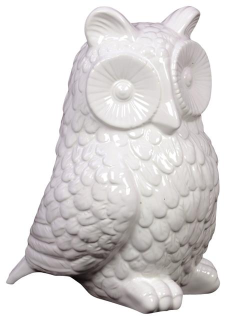 Ceramic Owl Figurine Traditional Decorative Objects