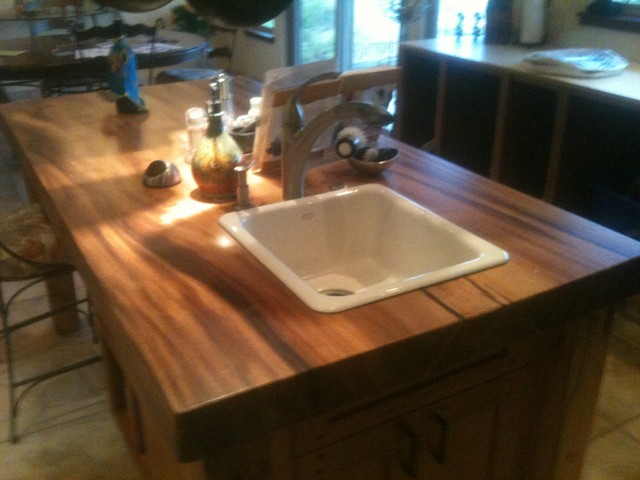 Wood Slab Kitchen Island Contemporary Kitchen Islands