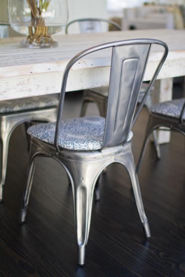 Custom Upholstered 1930u0027s French Metal Chair   Beach Style ...